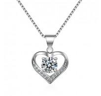Obesek iz srebra Kristalno srce