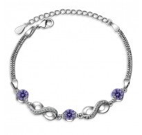 Fashion srebrna zapestnica s simboli neskončnosti