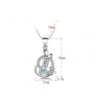 Pomenljiv srebrn obesek Rajska kača