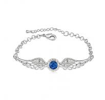 Modna zapestnica s kristali Swarovski elements v modri in beli barvi