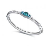 Klasično elegantna  zapestnica z modrimi kristali Swarovski elements