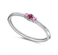 Klasično elegantna zapestnica z vijola kristali Swarovski elements
