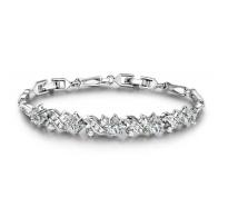 Lična elegantna zapestnica s kristalčki CZ
