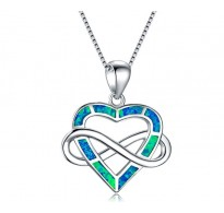 Čarobna srebrna ogrlica Infinity BlueHeart