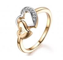 Očarljiv prstan s srcem v srcu