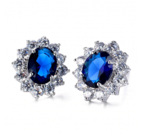 Elegantni modni srebrni uhani