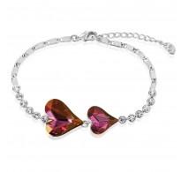 Romantična zapestnica s pristnimi kristali Swarovski elements