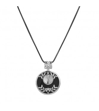 Unikatna, razkošna ogrlica z osupljivim srebrno sivim kristalom