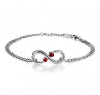 Zapestnica Infinity Love Red