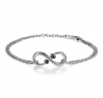 Zapestnica Infinity Love Purple