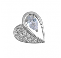 Prekrasno sijoče srebrno srce