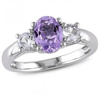 Eleganten razkošen dizajn z vijoličnim cirkonom