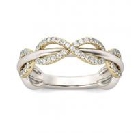Eleganten bogato okrašen prstan infinity