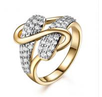 Čudovito prepleten prstan 18K roza pozlata