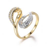 Zelo atraktiven prstan iz 18K pozlate