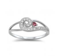 Srebrn prstan lepih oblik