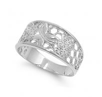 Prekrasen, zelo lepo izdelan srebrn prstan