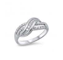 Krasen prstan, čudovitih oblin s kristali kubični cirkonij