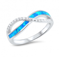 Infinity s kristali in modrimi lab opali