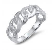 Privlačen srebrn prstan
