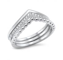 Nenavadna oblika, srebro in kristali CZ