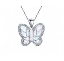 Srebrn obesek  Butterfly