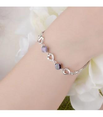 Izjemna srebrna zapestnica romantičnega dizajna