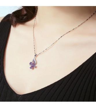 Srebrna vijolica z verižico