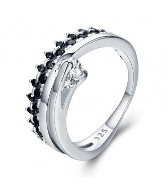 Kraljevski zaročni srebrn prstan