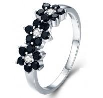 """Ljubek cvetlični srebrn prstan """"Rose"""""""