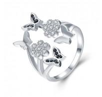Pravljičen srebrn prstan nastavljive velikosti