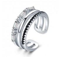 Edinstven srebrn prstan nastavljive velikosti