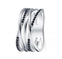 Čudovit širok in moderen srebrn prstan