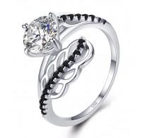 """Izjemen srebrn prstan """"Dve peresi"""""""