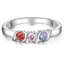 Čudovit prstan z ljubkimi barvnimi kristali