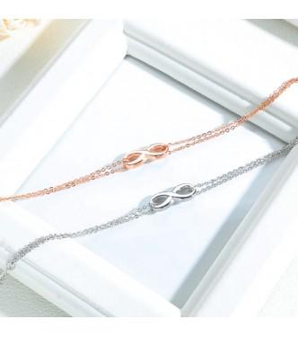 Prefinjena zapestnica z nežnim Infinity simbolom
