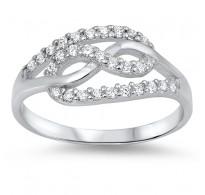 Izjemno očarljiv srebrn prstan Infinity