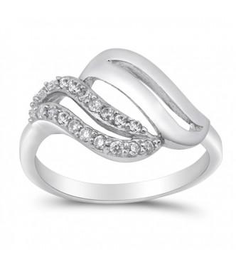 Eleganten srebrn prstan čudovitega dizajna