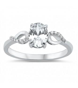 Čudovit srebrn prstan s kristalom CZ