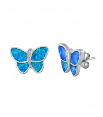 "Prikupni srebrni uhani ""Butterfly"""