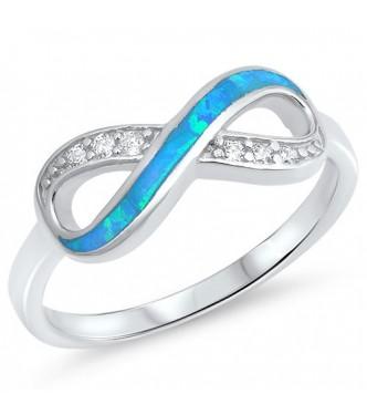 """Sijajen srebrn prstan """"Infinity"""""""