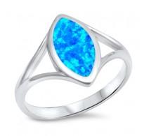Prekrasen srebrn prstan z lab opalom