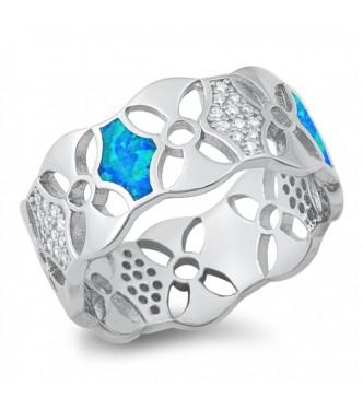 Prečudovit bohemski prstan z opali