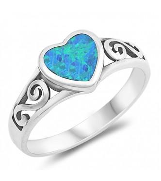 """Krasen """"Heart opal"""" srebrn prstan"""