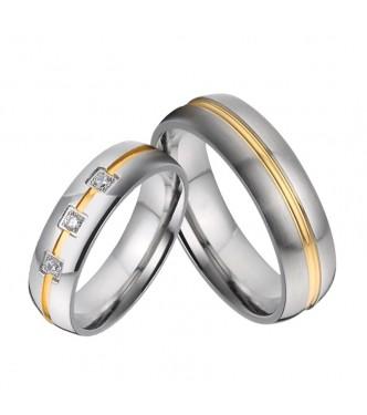 """Prikupen zaročni prstan iz nerjavečega jekla """"Avrora"""""""