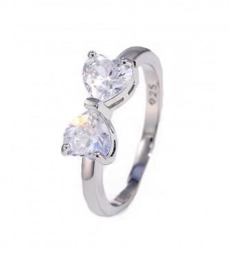 Očarljiv prstan s kristalno pentljo