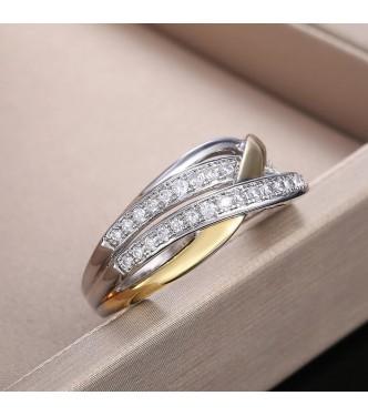 Izvrsten prstan v kombinaciji dveh pozlat