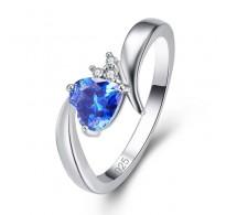 "Čaroben prstan ""Modro srce"""