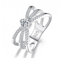 Briljanten prstan s kristali CZ