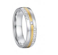 """Čudovit zaročni prstan iz nerjavečega jekla """"Julija"""""""